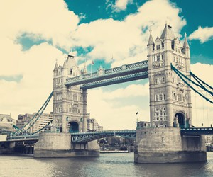 bridge, river, and tower bridge image