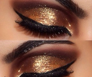 beauty, eyeshadow, and lashes image