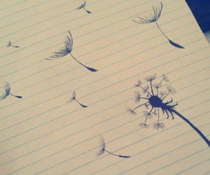 art, dandelions, and drawing image