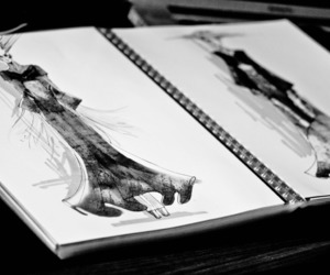 fashion, art, and black and white image