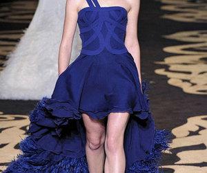 fashion, blue, and model image