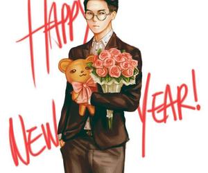 fanart, mino, and happy new year image