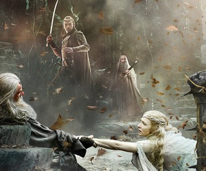 gandalf, the hobbit, and elrond image