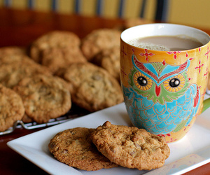 Cookies, owl, and food image