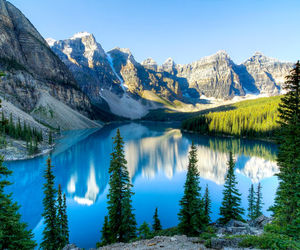 Alberta, valley of the ten peaks, and beautiful image