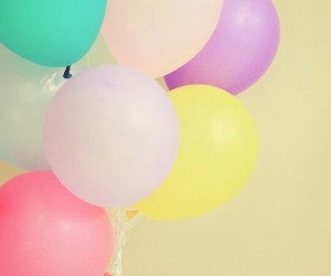 wallpaper, balloons, and pastel image
