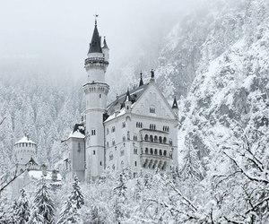 castle, wonderland, and winter image