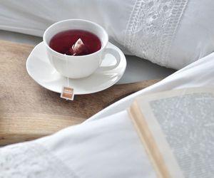 bed, fashion, and tea image