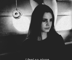 lana del rey, alone, and black and white image