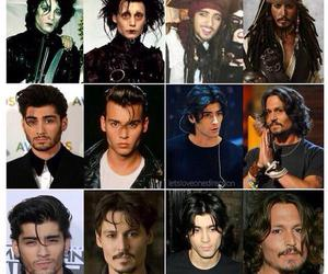 johnny depp, zayn malik, and one direction image