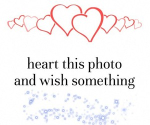 wish, heart, and photo image