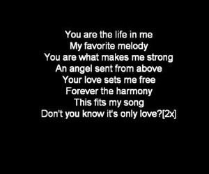 Lyrics, beautiful song, and it's only love image