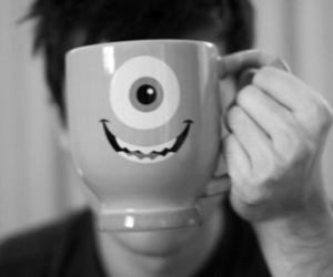 boy, cup, and monsters inc image