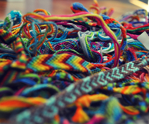 colorful and friendship braceletes image