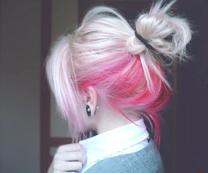 back, girls, and pink hair image