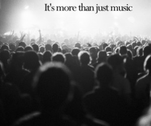 b&w, concert, and music image