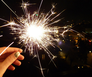 sparks, fire, and firework image