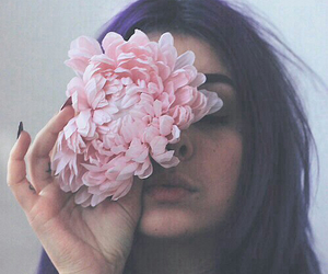 flowers, girl, and tattoo image