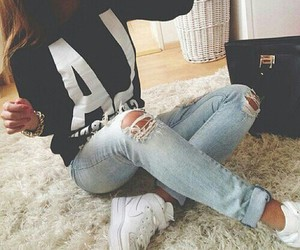 hipster, jeans, and vintage image