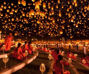 light, thailand, and lantern image