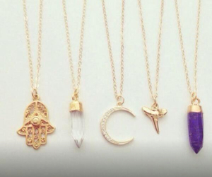 crystal, moon, and necklaces image