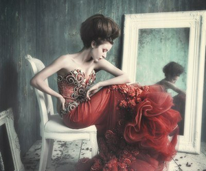 haute couture, red, and photo collection image