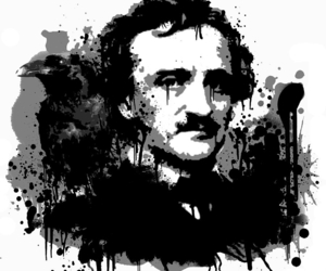 dark, the raven, and edgar allan poe image