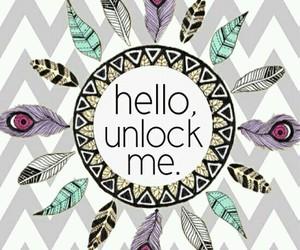 wallpaper, unlock, and hello image