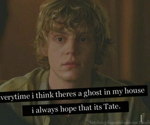 funny, ghost, and tate image