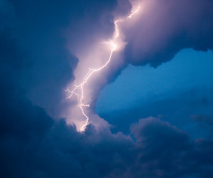 sky, clouds, and thunder image