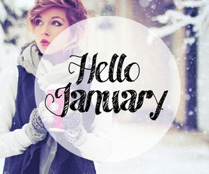 girl, january, and new year image