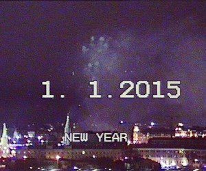new year, 2015, and grunge image