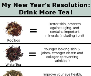 health, new years resolution, and tea image