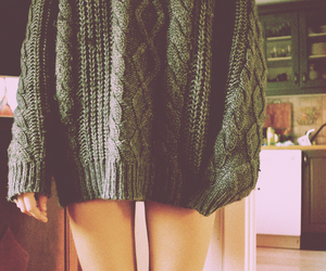 girl, sweater, and legs image