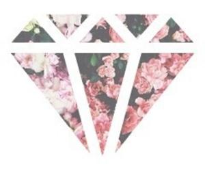 flowers and diamond image