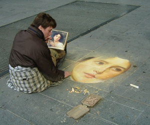 art, chalk, and drawing image