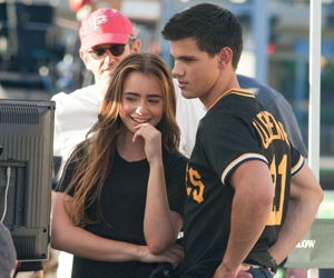lily collins and Taylor Lautner image