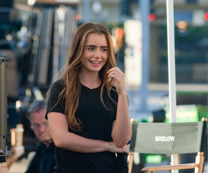 lily collins, girl, and love image