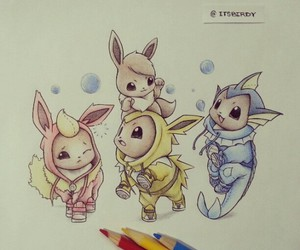 pokemon, drawing, and eevee image