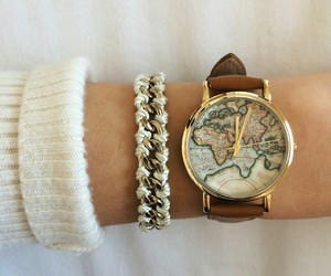 watch, accessories, and map image
