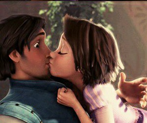 tangled, kiss, and disney image