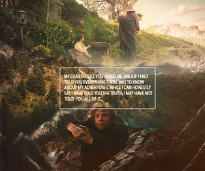 the hobbit, gandalf, and lord of the rings image