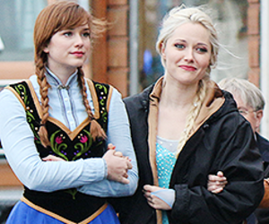 frozen, once upon a time, and georgina haig image