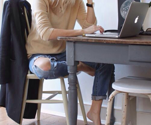 style, work, and blonde image