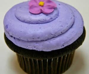 cupcakes, flower, and purple image