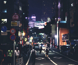 night, city, and japan image