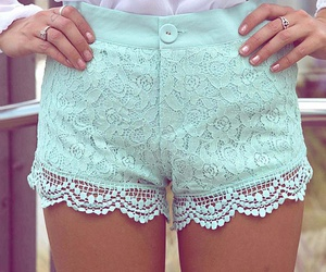 fashion, shorts, and lace image