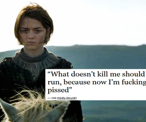 quote, arya stark, and game of thrones image
