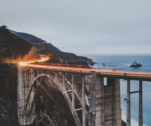 big sur, california, and bridge image
