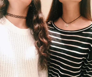 best friend, chokers, and fashion image